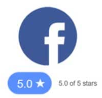 5 Star Award From Facebook